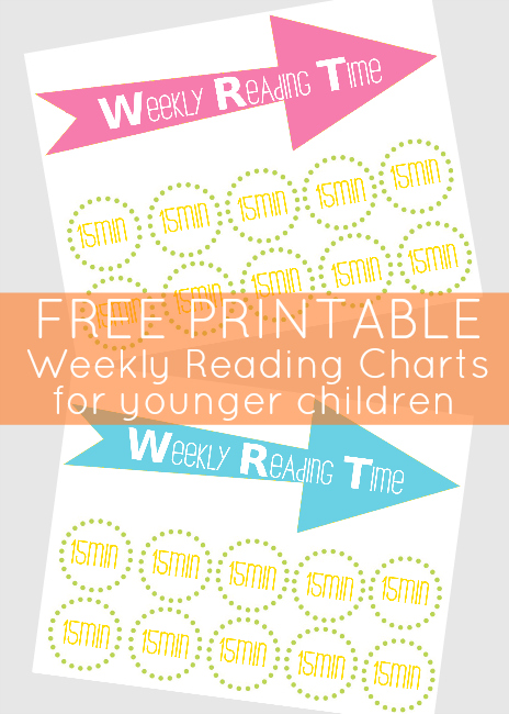 Back To School - Weekly Reading Time Chart Printable - Our Thrifty