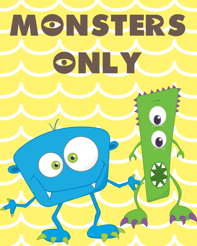 Monsters only printable party pack our thrifty ideas monsters only free party printable pack filmwisefo