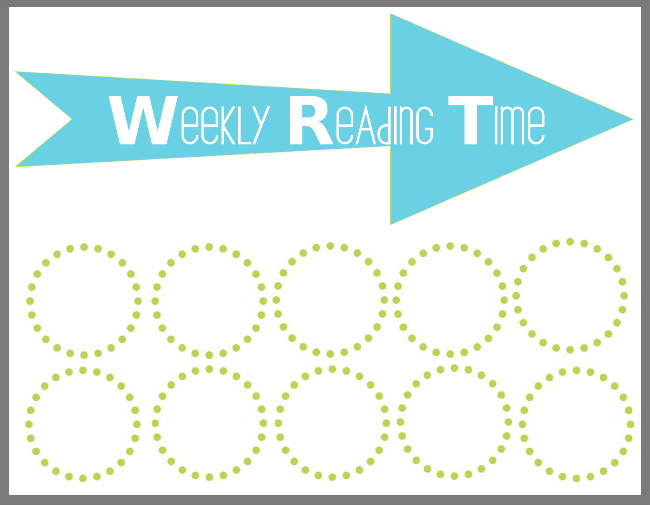 Back To School  Weekly Reading Time Chart Printable  Our Thrifty