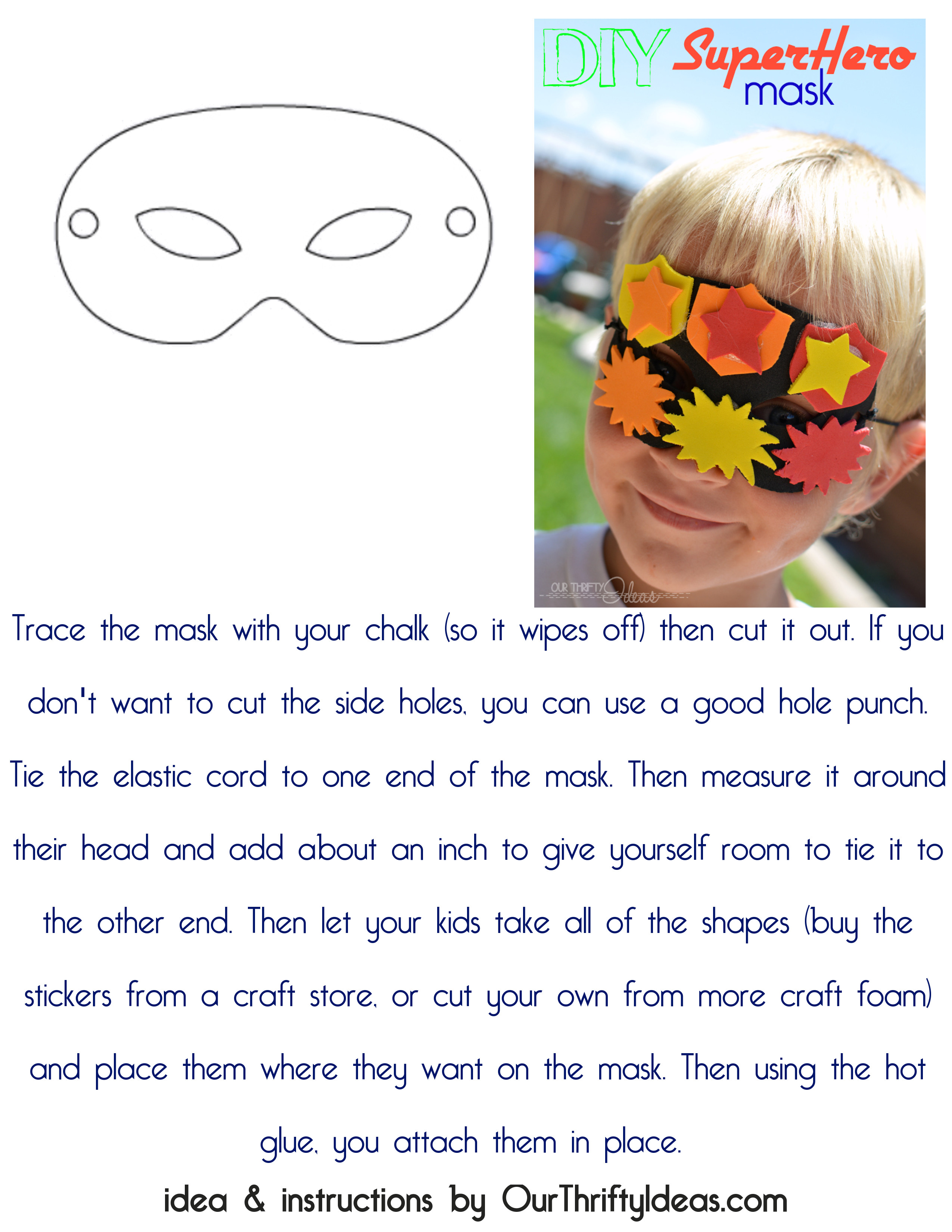 Diy super hero mask skip to my lou just download this page with a mask template maxwellsz