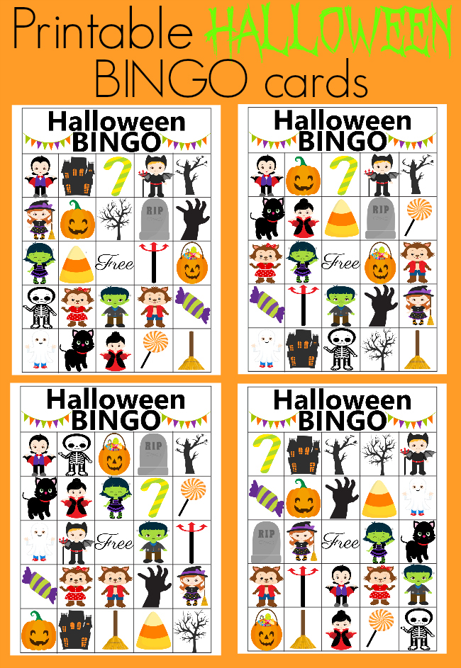 Halloween BINGO - free printable + Halloween Blog Hop - Our ...