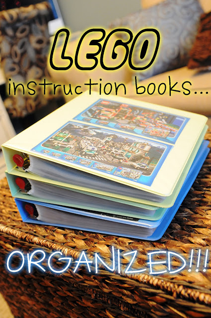 Organize your lego instruction books