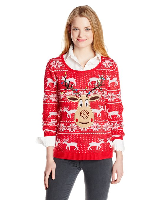 Rudolph Christmas Ugly Sweater