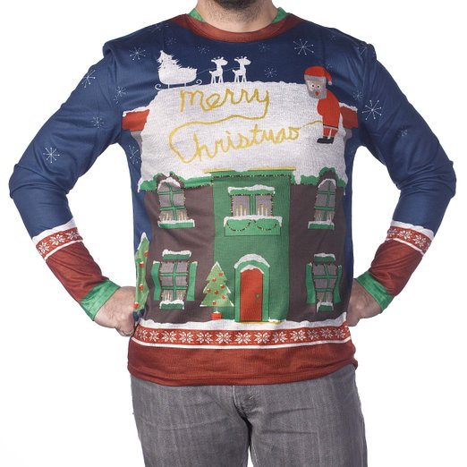 santa peeing in the snow Ugly Sweater