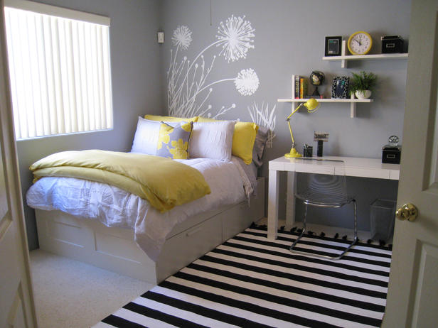Black & White girls bedroom