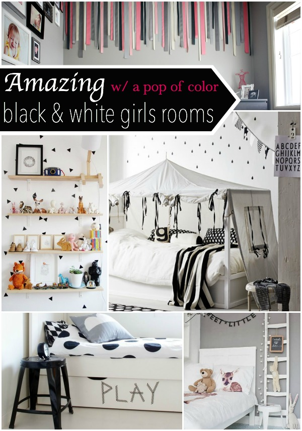 Black & White w/ a pop of color - Room Decor - Our Thrifty Ideas