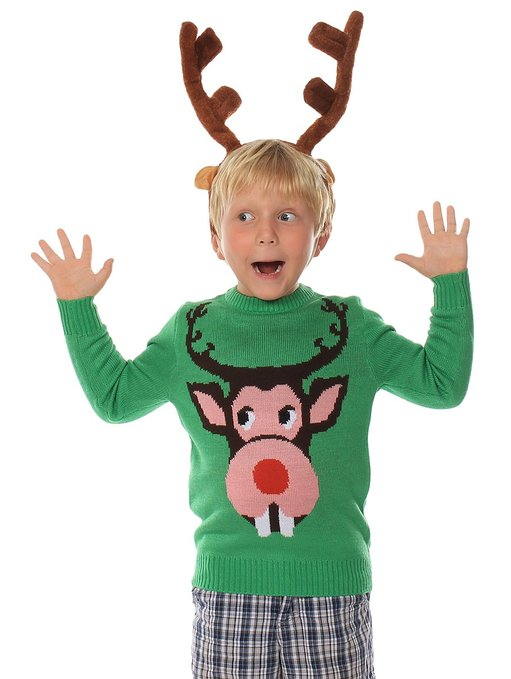 Buck Teeth Rudolph sweater