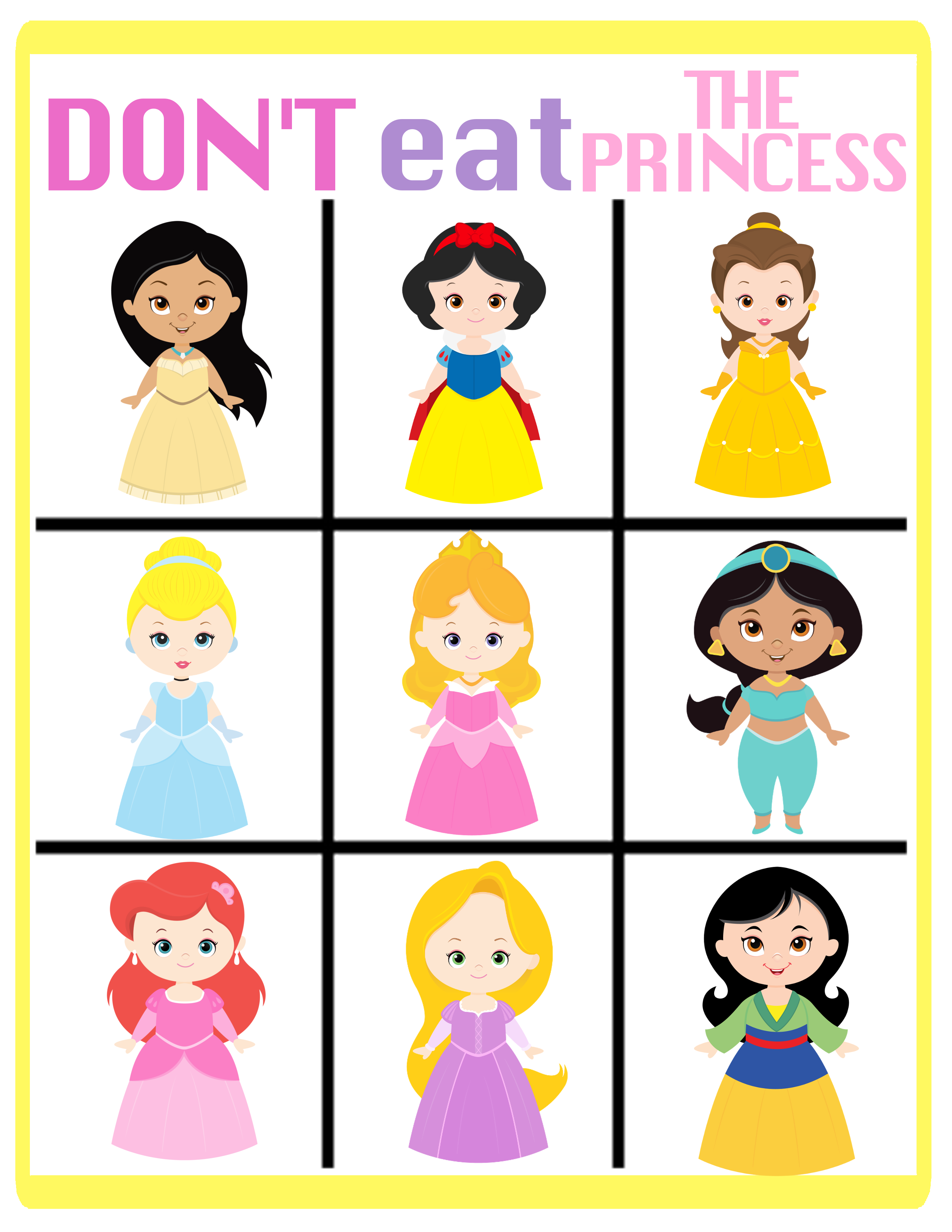 a perfect princess party activity. Get a free printable at OurThriftyIdeas.com