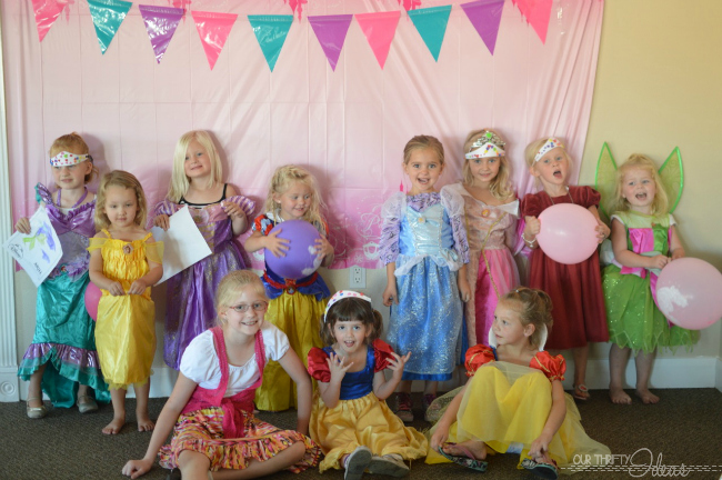 princesses at the party