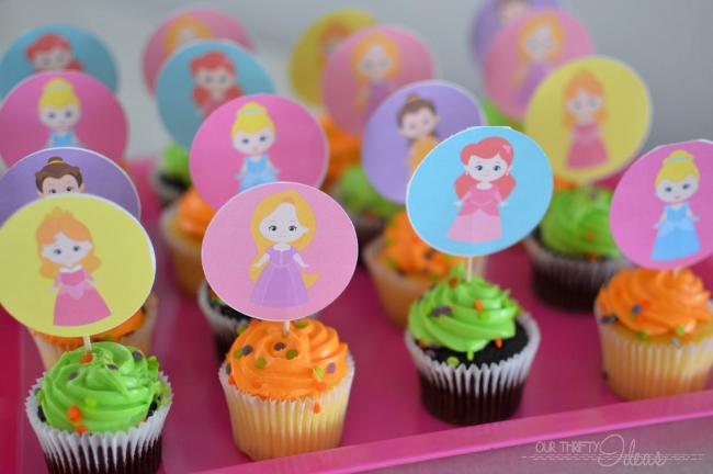 printable princess cupcake toppers
