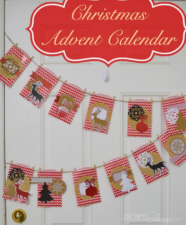Handmade Advent Calendar for Christmas. Plus printable activity Ideas