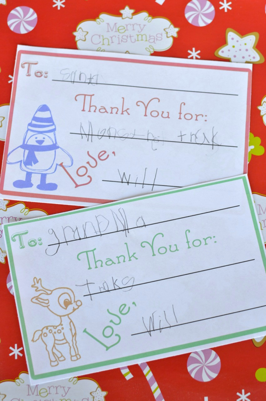 Childrens Christmas Thank You Cards Our Thrifty Ideas