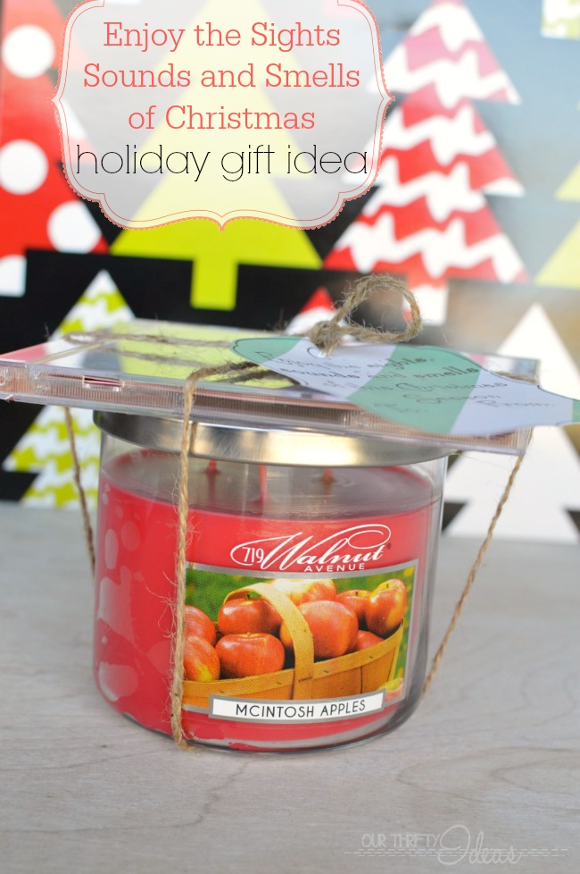 Christmas candle neighbor gift our thrifty ideas