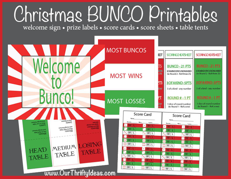 Nice Christmas Bunco Party Ideas Part - 5: Are You Hosting BUNCO In December? This Printable Pack Has Everything  Youu0027ll Need To Make The Night A Hit!!!
