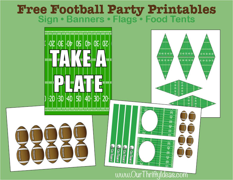 This is an image of Canny Free Football Printables