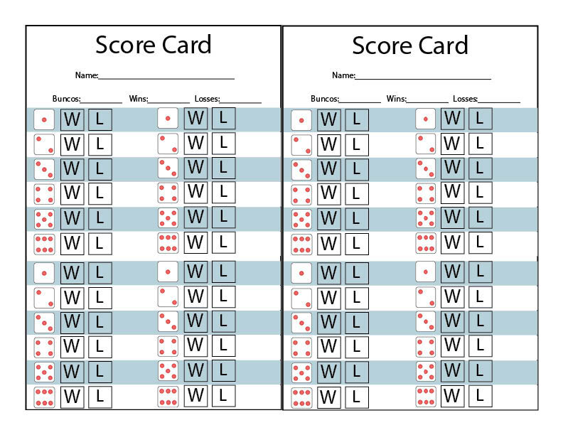 image regarding Printable Bunco Score Cards identify Wintertime Themed Bunco Printables - Our Thrifty Options