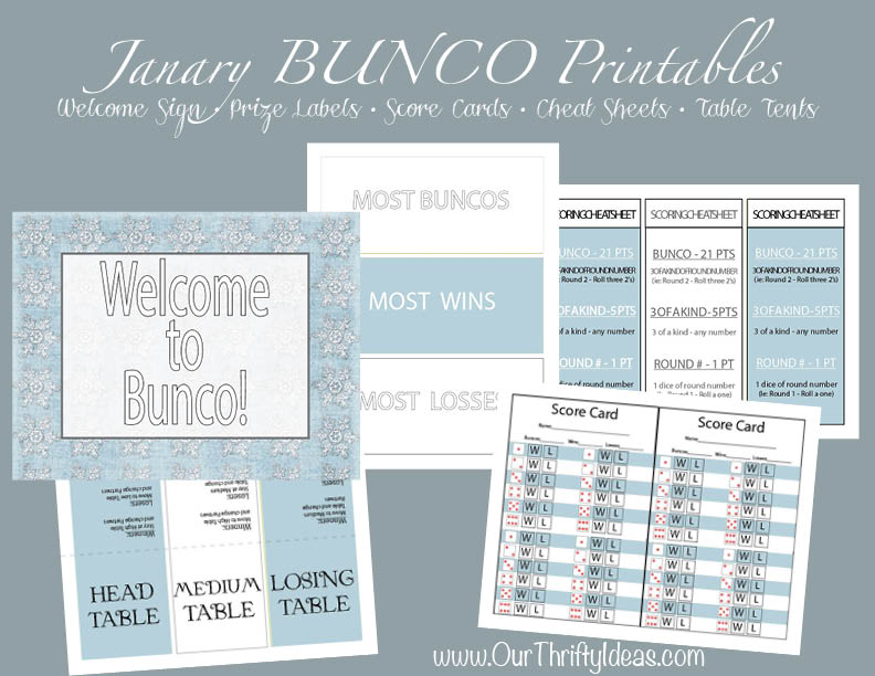 Bunco Templates  CorpedoCom