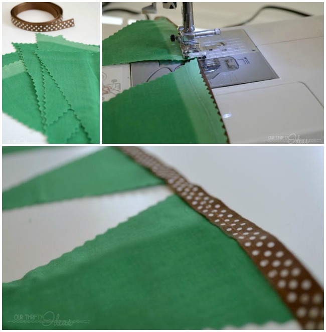 How to create a fabric bunting in less than 10 minutes