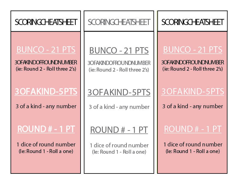 image about Printable Bunco Score Cards named Bunco Desk Playing cards Printable Impressive Espresso Tables and