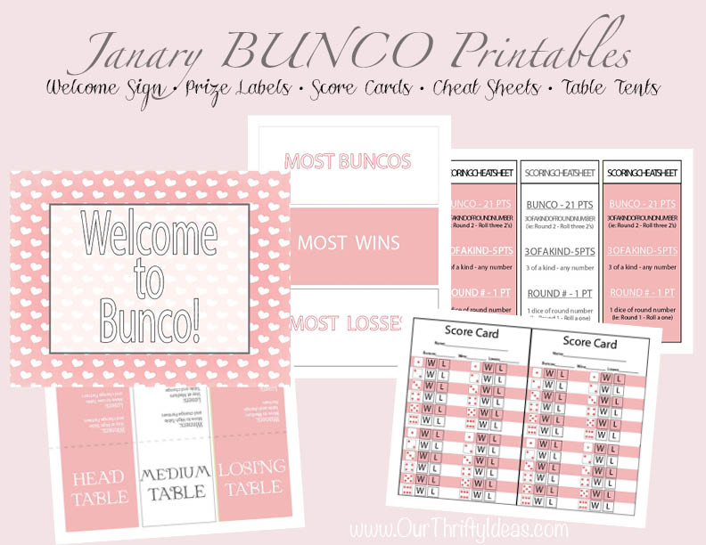 Valentine Bunco Printable Pack  Our Thrifty Ideas