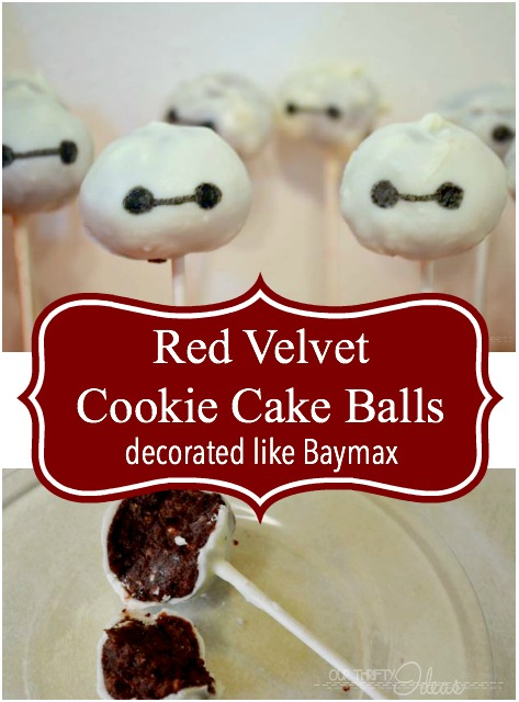 These are the cutest cookie balls, and they are red velvet. YUM!