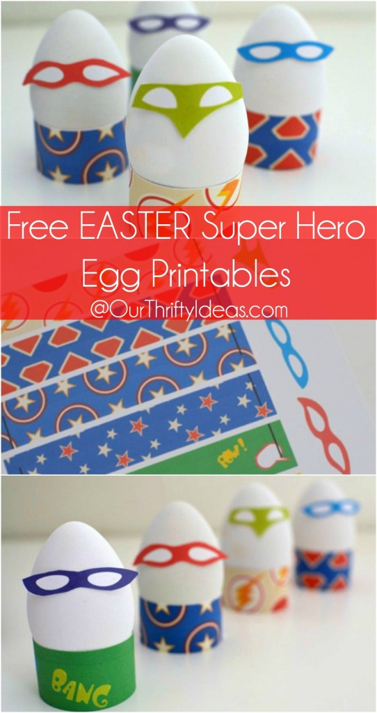 super hero egg printable