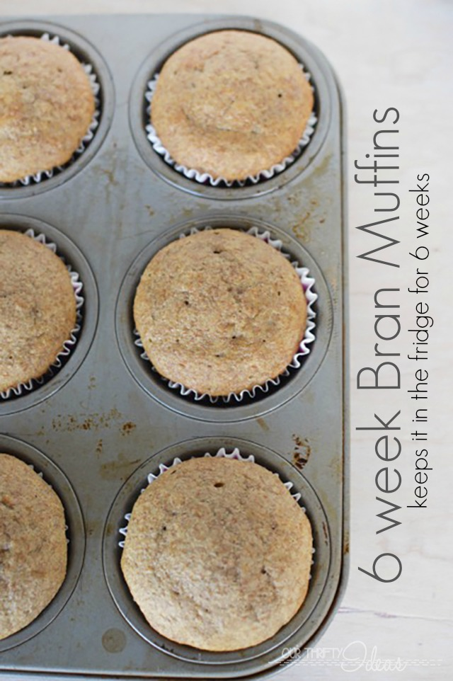 This is brilliant. You can make this bran muffin batter and then keep it in the fridge for up to 6 weeks. Make one muffin or make 20 at a time!!