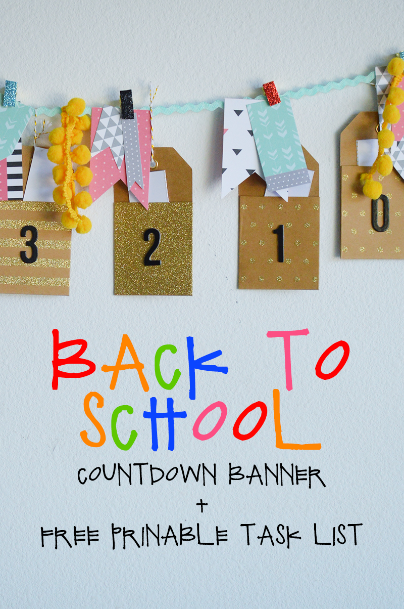 Back To School Countdown Tasks Banner