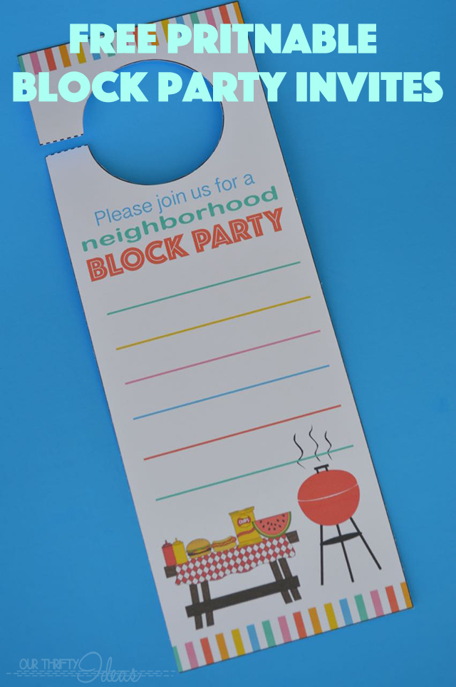 neighborhood block party invitation free printable our thrifty ideas
