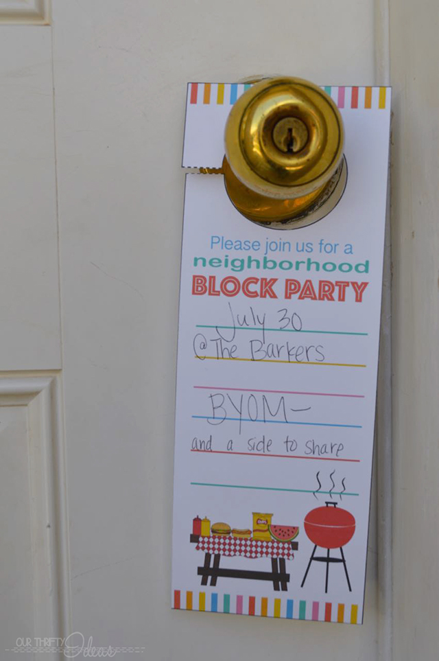 Neighborhood Block Party Invitation Free Printable Our Thrifty – Block Party Invites