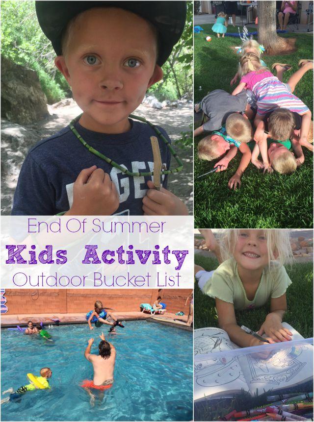 kids activity bucket list