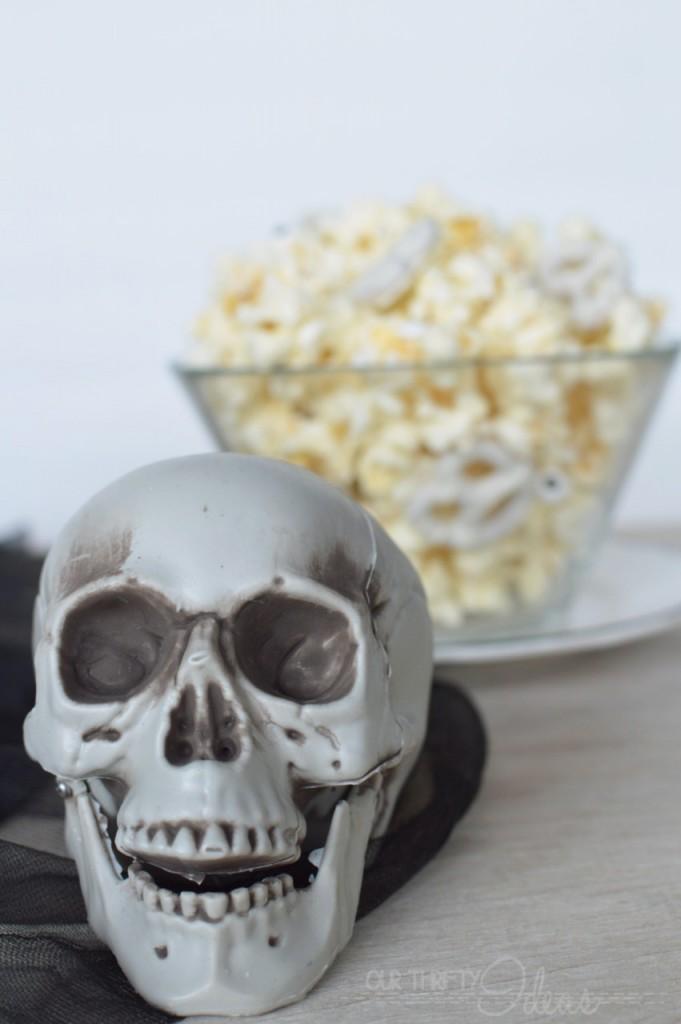 skeleton popcorn for halloween
