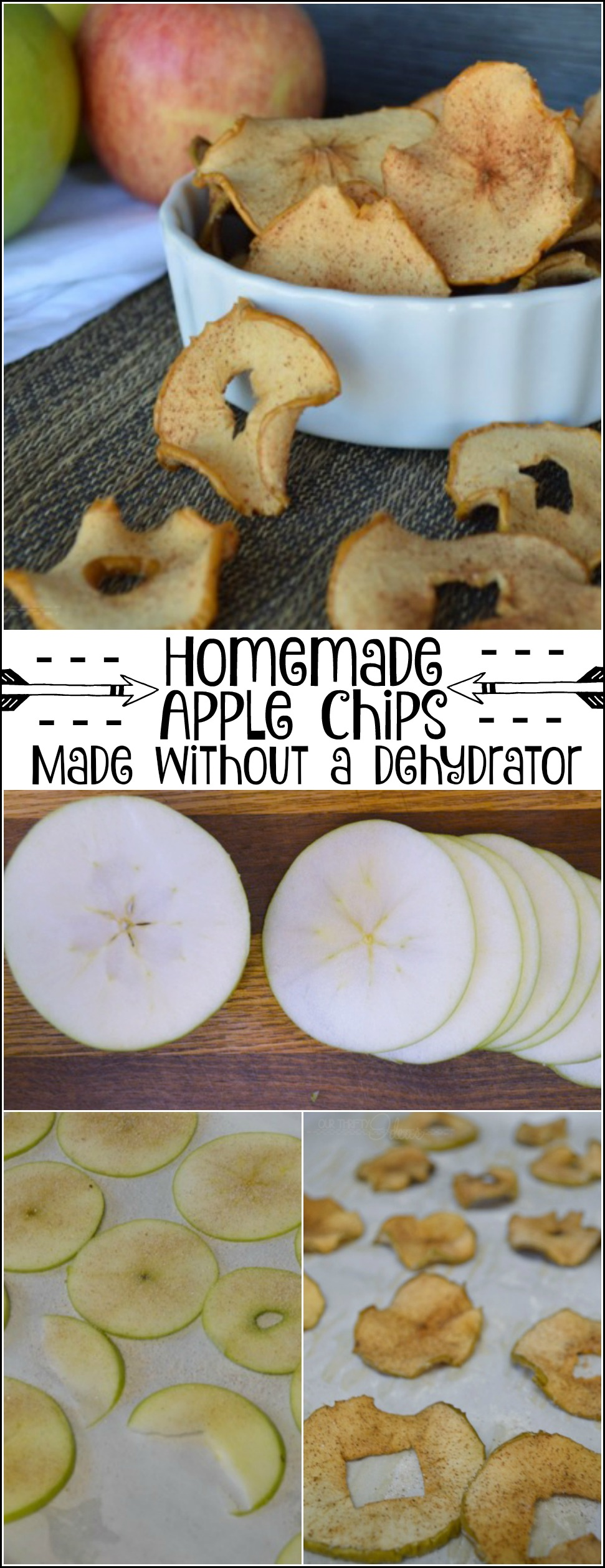 homemade apple chips without a dehydrator our thrifty. Black Bedroom Furniture Sets. Home Design Ideas