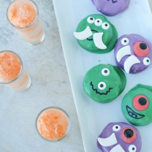 Zombie Peanut Butter OREOS & Non-alcoholic Orange Creamsicle Shots