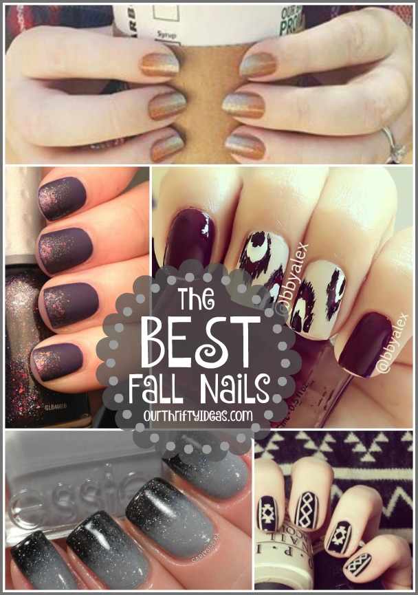 The BEST Fall Nail Art Ideas - Our Thrifty Ideas