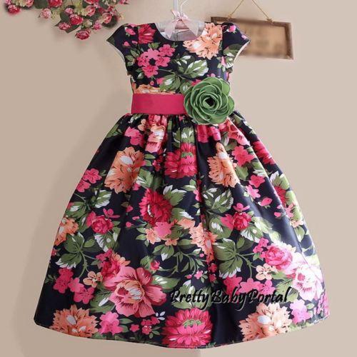 girls floral dresses