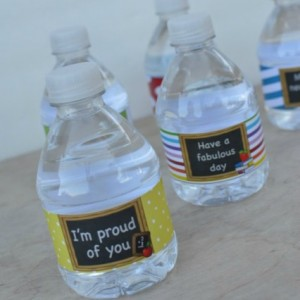 water bottle labels - square