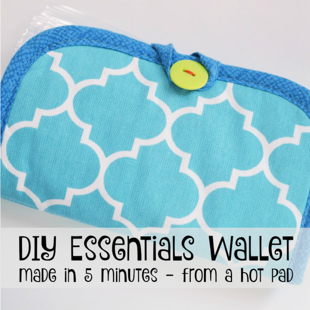 Easy DIY purse essentials wallet square