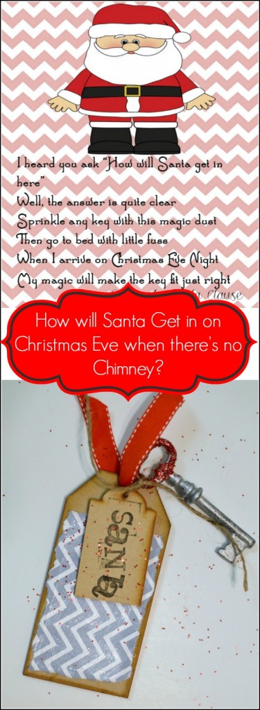 Santa's Magic key to get in when you don't have a chimney