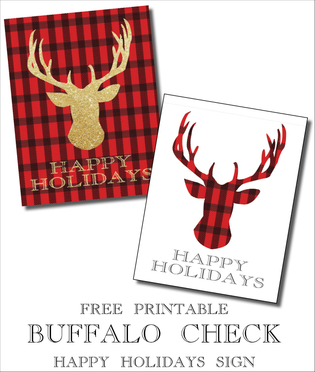 free printable buffalo check signs