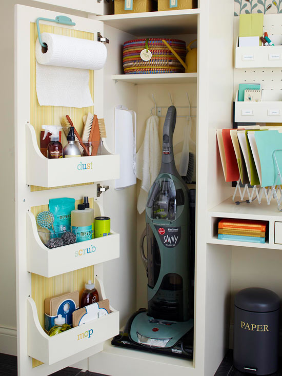 Adding Shelves To The Inside Of A Door For Organization.