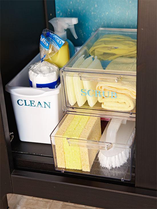 Nice Organize under your bathroom sink