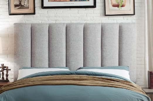 Upholstered Grey Headboard
