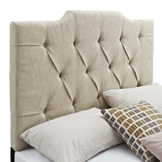 Everly Panel Tufted Linen Headboard