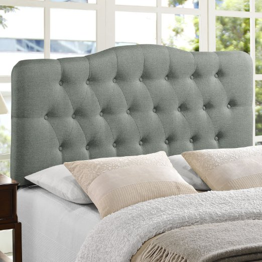 beautiful grey tufted king size headboard