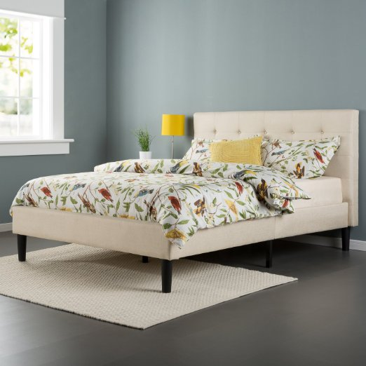 Zinus Upholstered Button Tufted Bed