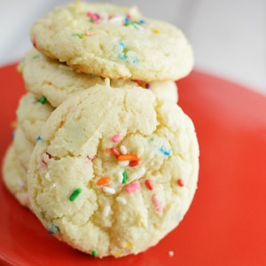 Almond Funfetti Boxed Cake Cookies