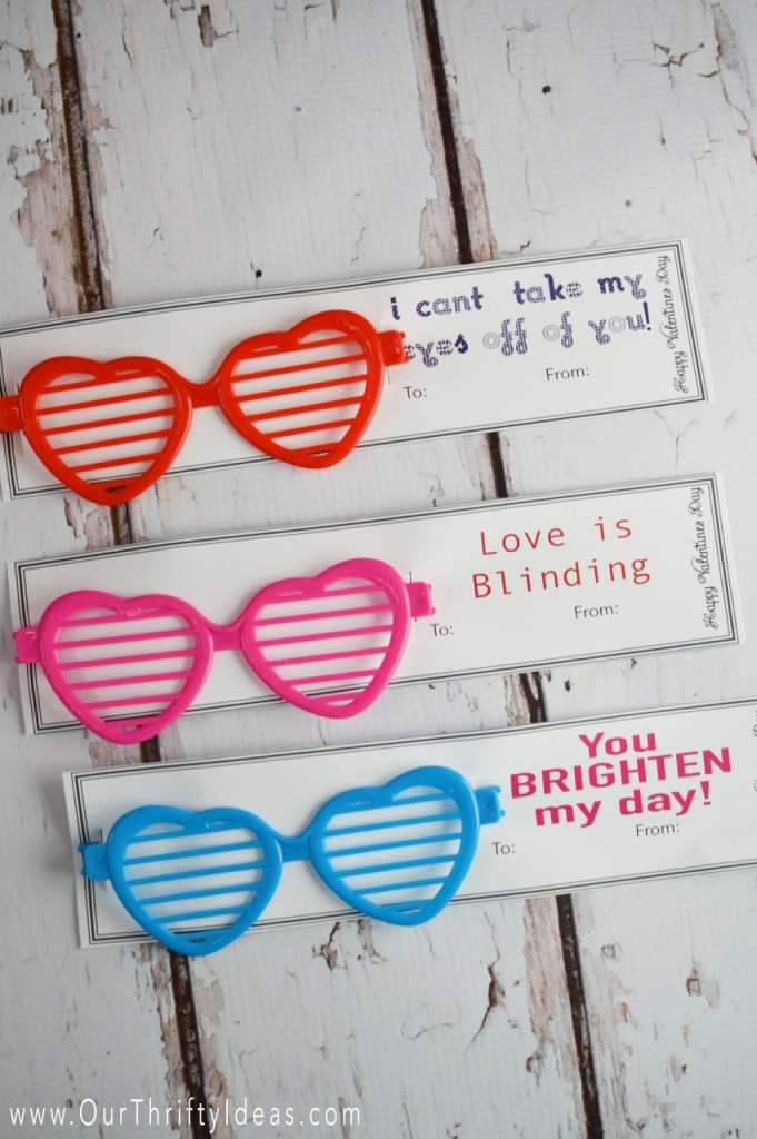 Classroom Ideas For Valentines Day ~ Sunglasses valentine printable card our thrifty ideas
