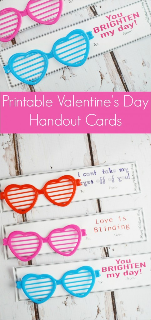 Sunglasses Valentine Printable Card Our Thrifty Ideas – Friendly Valentine Cards
