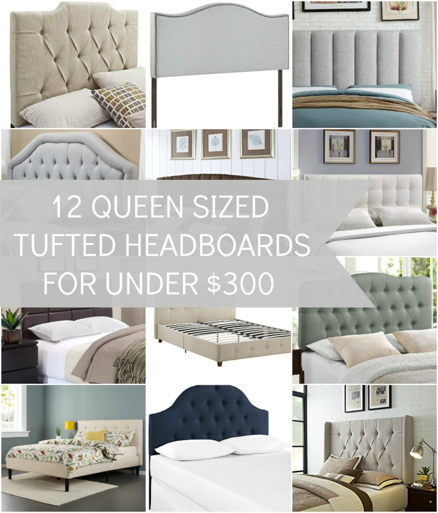 Fresh Did you know you can get some beautiful tufted queen size headboards for under